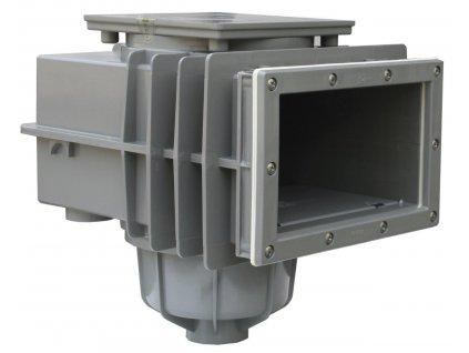 SKIMMER V20 ABS do fólie, 200 x 150 mm, s mosaznými zástřiky - Šedý