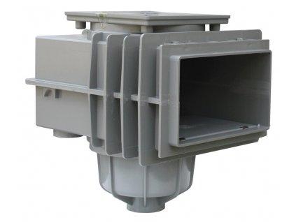 SKIMMER V20 do betonu, 200 x 150 mm - Šedý