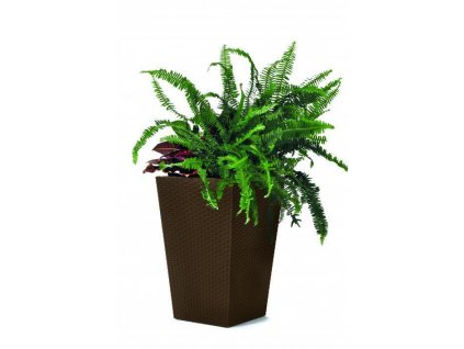 Rattan planter L - hnědá