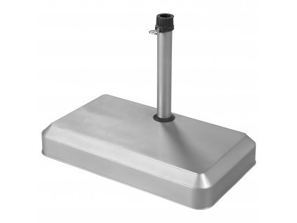 Stojan betonový stříbrný pro slunečníky