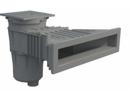 Superskimmer 17,5 l s mosaznými záštřiky - tmavě šedý (RAL7016)