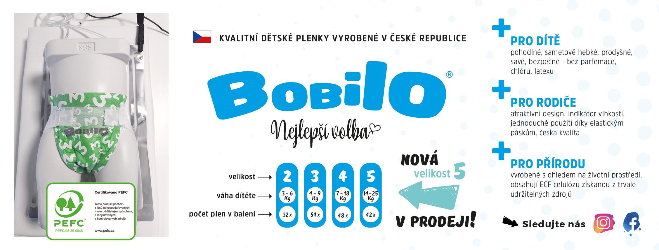 plenky Bobilo - nová velikost č. 5