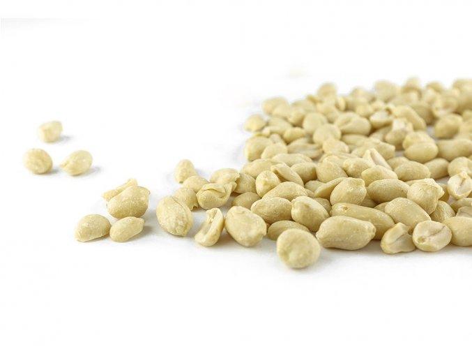 arašídy, loupané, blanšírované, natural, suché plody