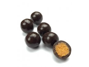 sušené meruňky v hořké čokoládě, kostičky