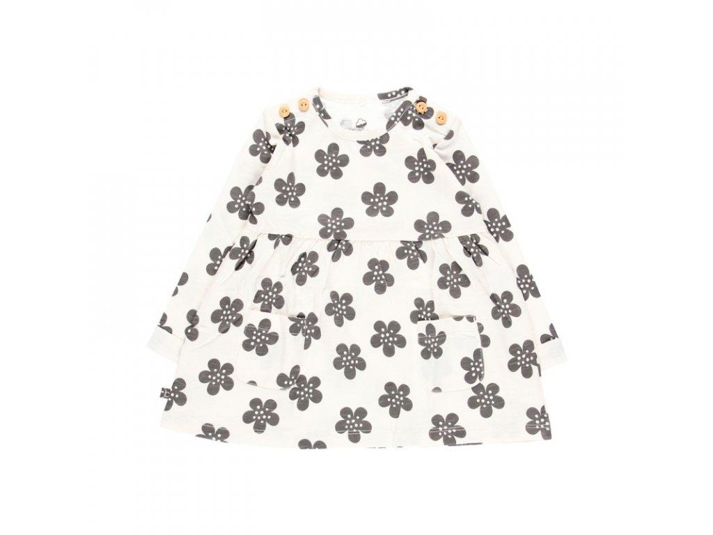 květy bílé šaty