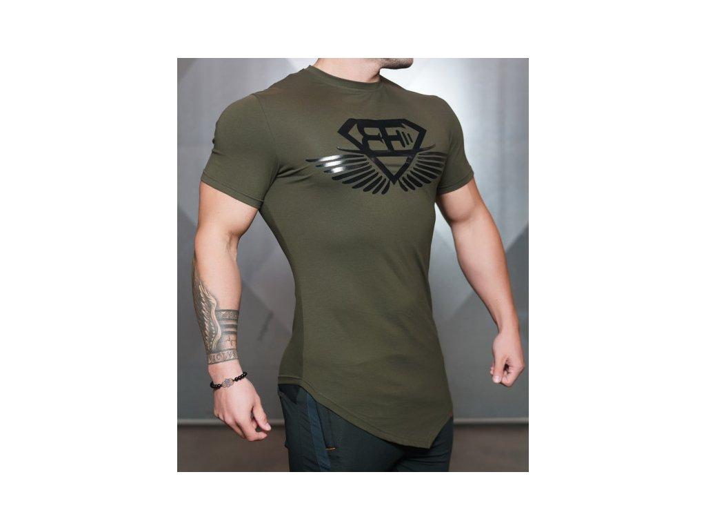 d859a95cb Pánské tričko Engineered Life T 2.0 – army green / black - body-style.cz