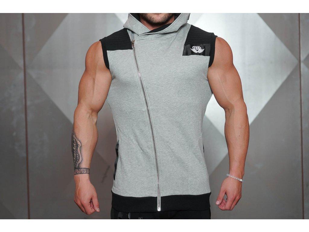 Pánská vesta YUREI - light grey / black