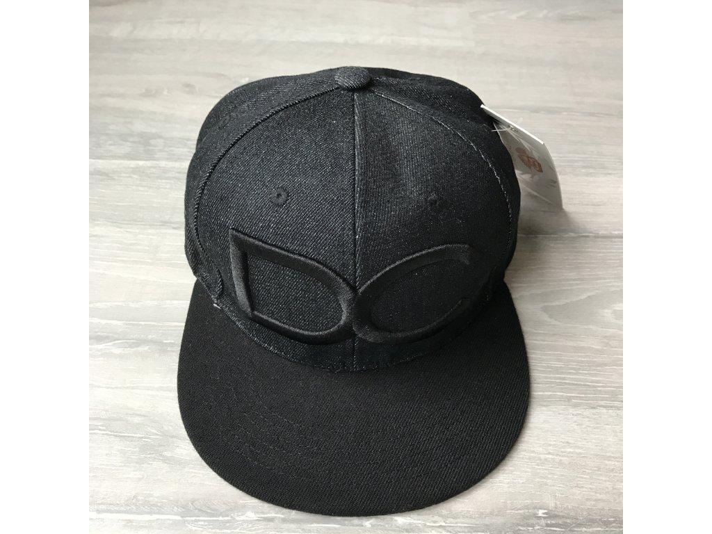 DC Snapback kšiltovka - džínová s černým logem DC