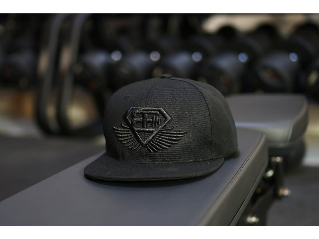 BE Snapback kšiltovka - černá s černým logem