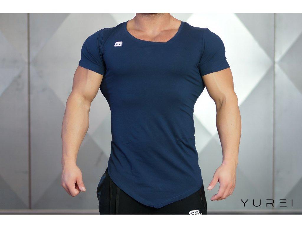 Pánské tričko AESYMETRIC V-NECK - navy blue