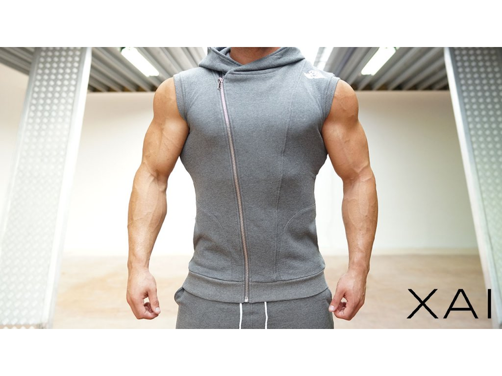 XA1 vesta bez rukávu – antracitová šedá - BODY-STYLE 99518539c9