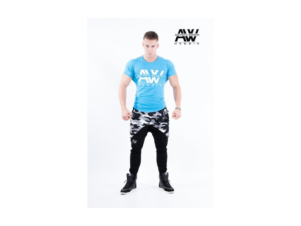 Pánské tričko Nebbia 112 - blue / white