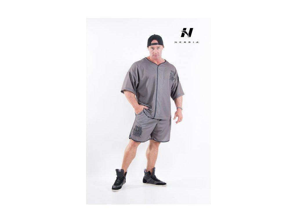 Pánské šortky Nebbia 302 - khaki