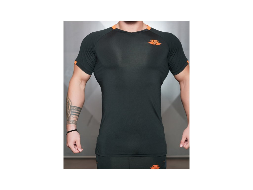 Pánské sportovní tričko Anax - black / orange