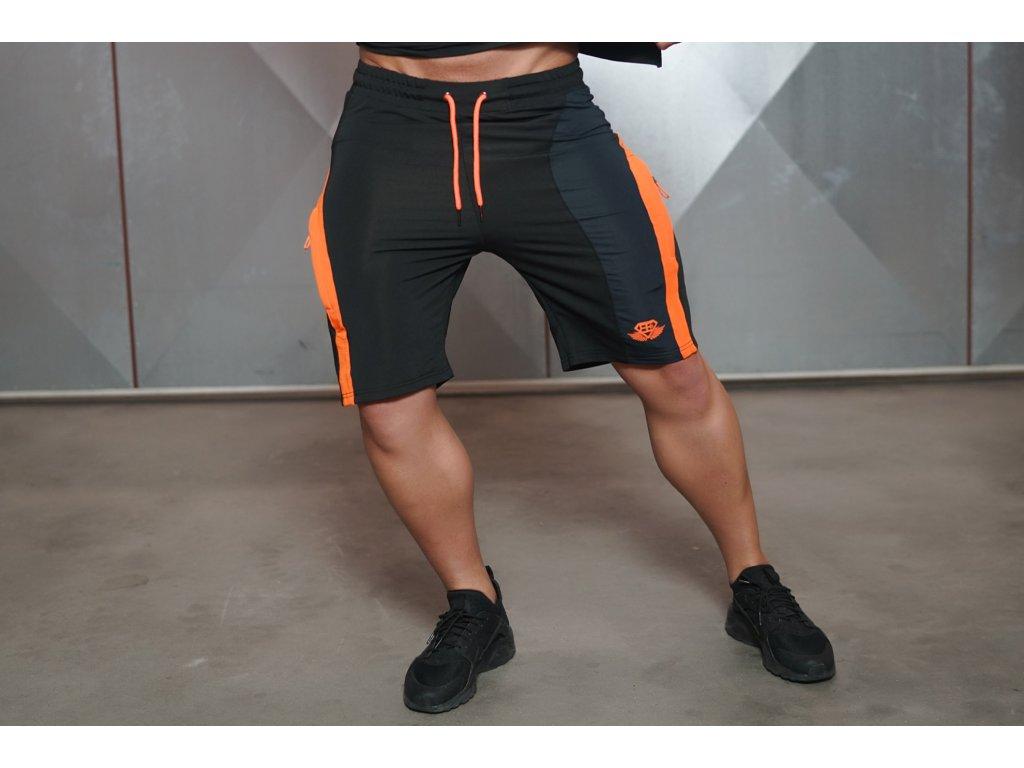 Pánské kraťasy ANAX - black/orange
