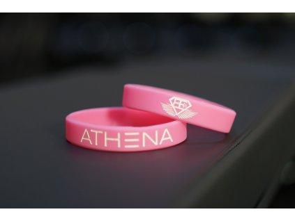 Silikonový náramek ATHENA – pink