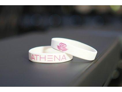 Silikonový náramek ATHENA - white