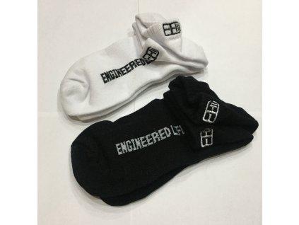 Unisex ponožky - black & white