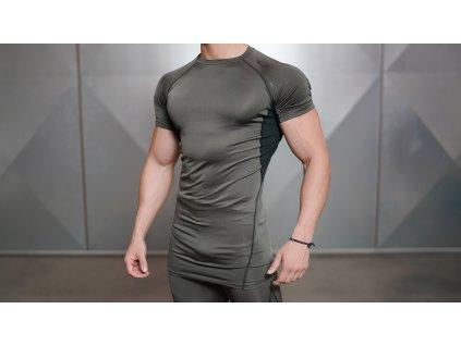 Pánské kompresní triko SS VENTUS – army green