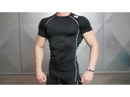 Pánské kompresní tričko SS VENTUS - black