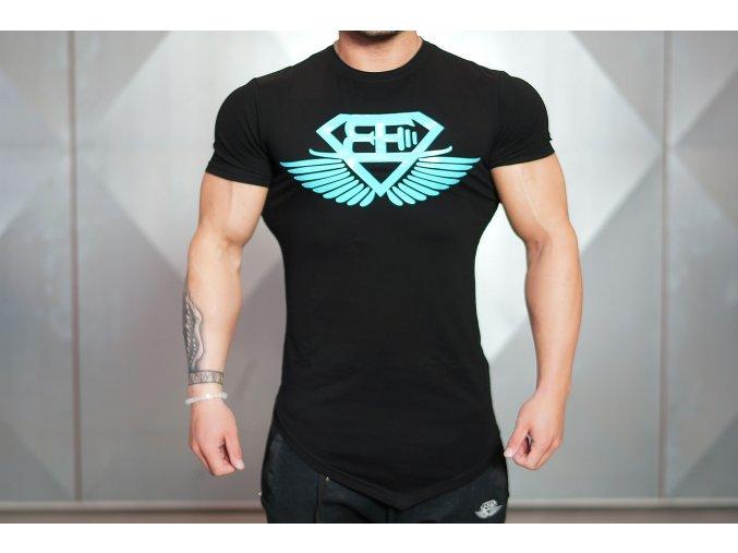 Pánské tričko Engineered Life T 2.0 – Černá & Nebeská modrá
