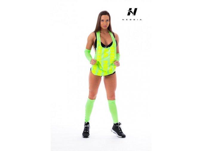 Nebbia Tílko Neon 226 Zelenomodrá