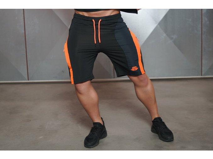 ANAX - Kraťasy - černá/oranžová