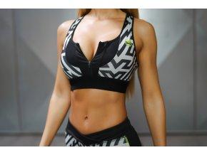 LOTUS Tesla Sports Bra – Black/Grey