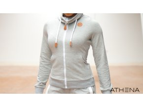 ATHENA French Terry Hoodie – Light Grey