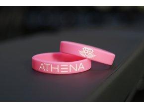Silikonový náramek ATHENA – růžový