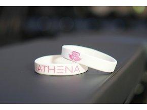 Silikonový náramek ATHENA – bílý