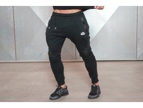 YUREI Sportovní tepláky – černé