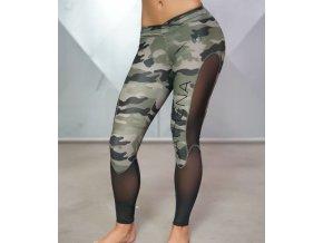 Athena Camo Legging – Olivová zelená a černá