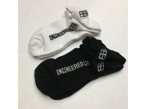 Ponožky Body Engineers - Bílá / Černá, 2ks
