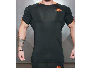 Pánské tričko Anax - černá/oranžová