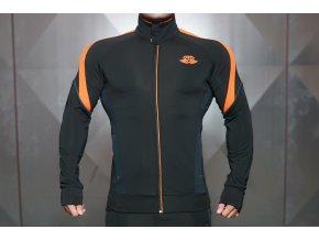 ANAX - mikina se zipem - černá/oranžová