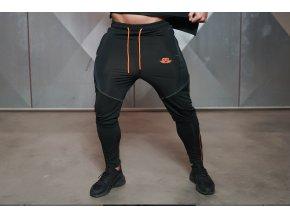 ANAX - tepláky - černá/oranžová