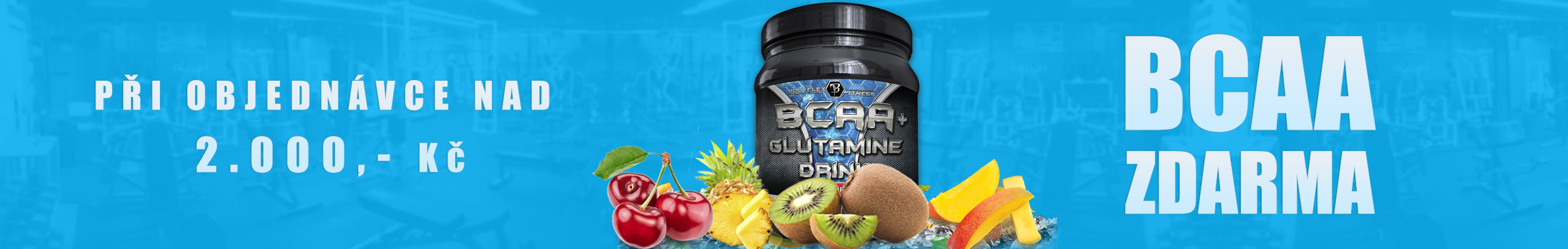 BODYFLEX Nutrition BCAA+Glutamine Drink ZDARMA
