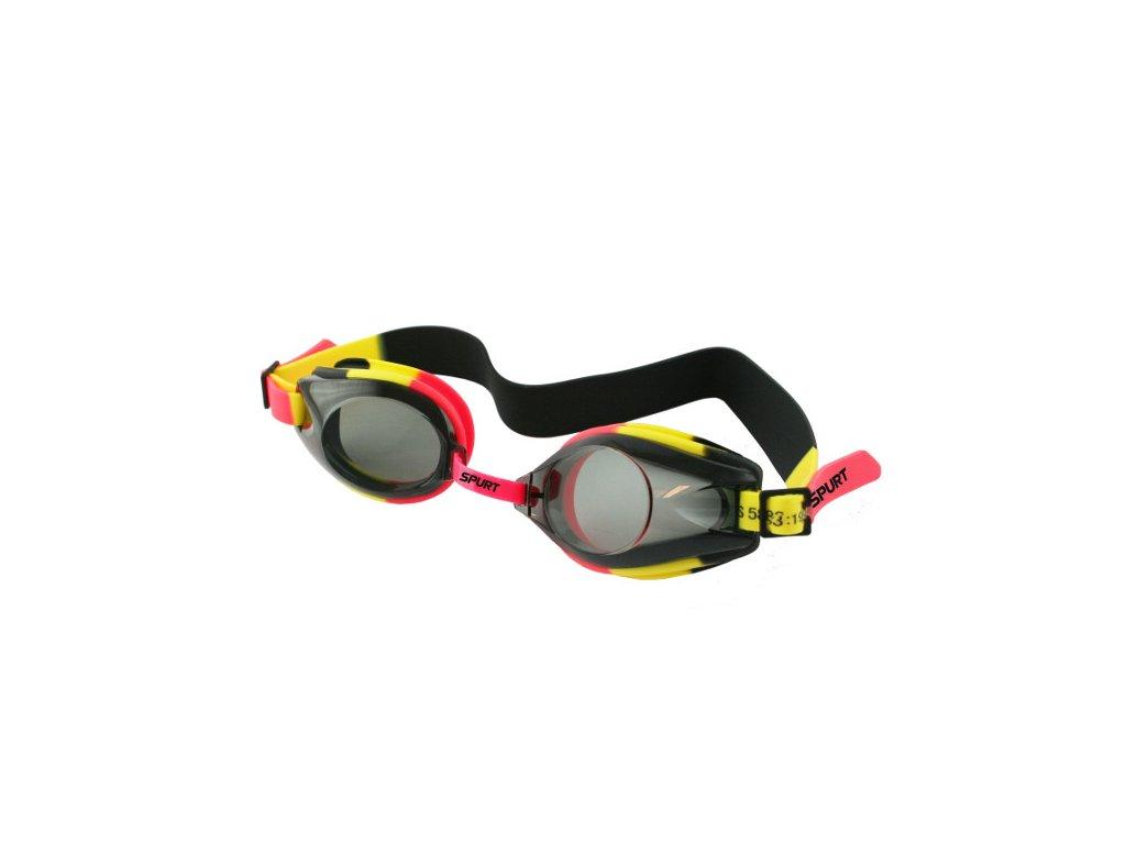 Plavecké okuliare SPURT 1200 AF 43 oranžovo-žlté