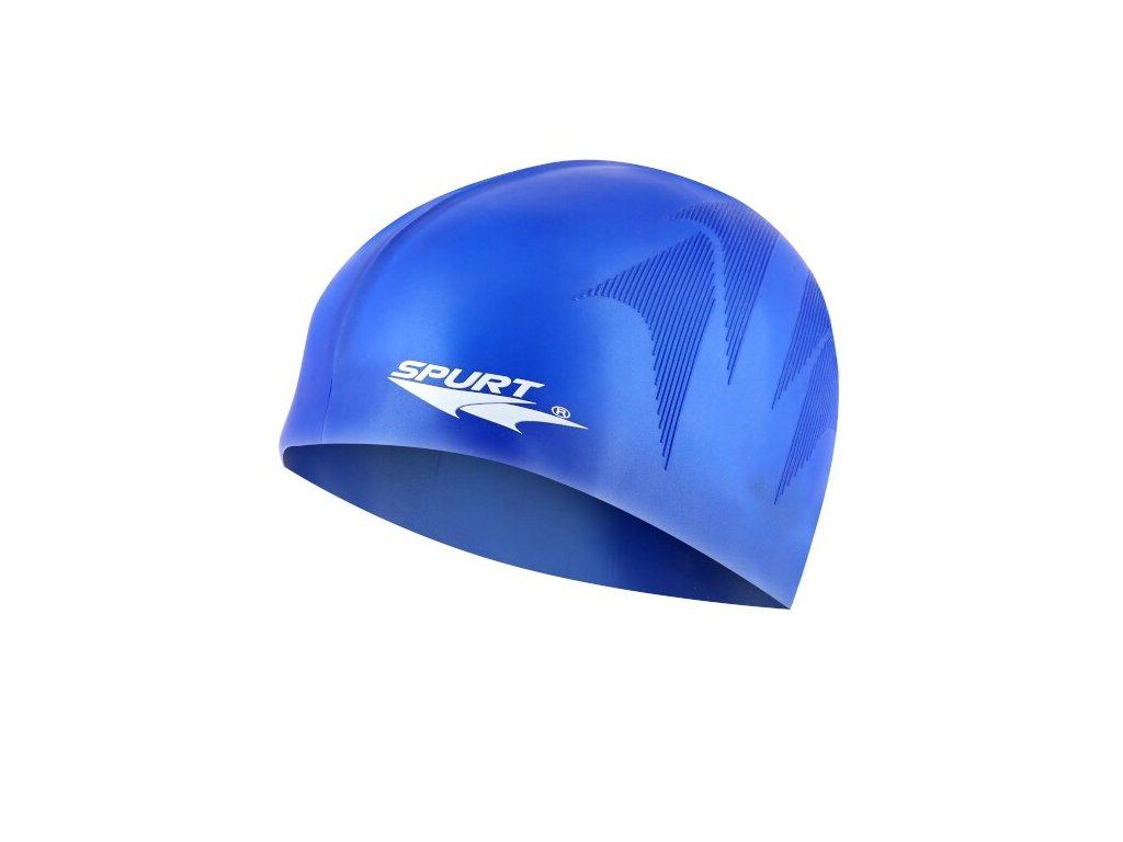 Silikonová čepice SPURT F230 s plastickým vzorem, modrá
