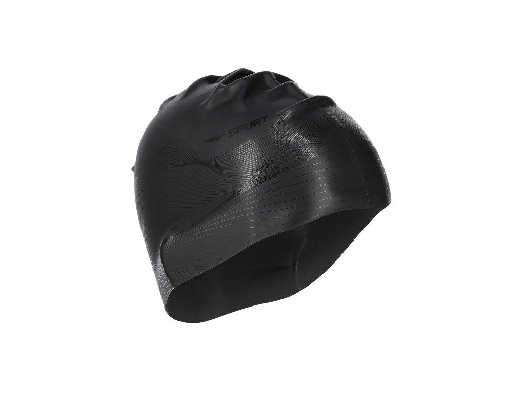 Silikonová čepice SPURT G-Type F209 men se vzorem, černá