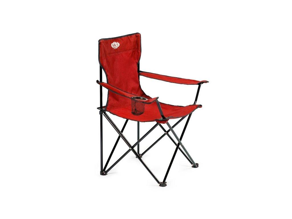 Skladacia stolička NILS Camp NC3044, červená