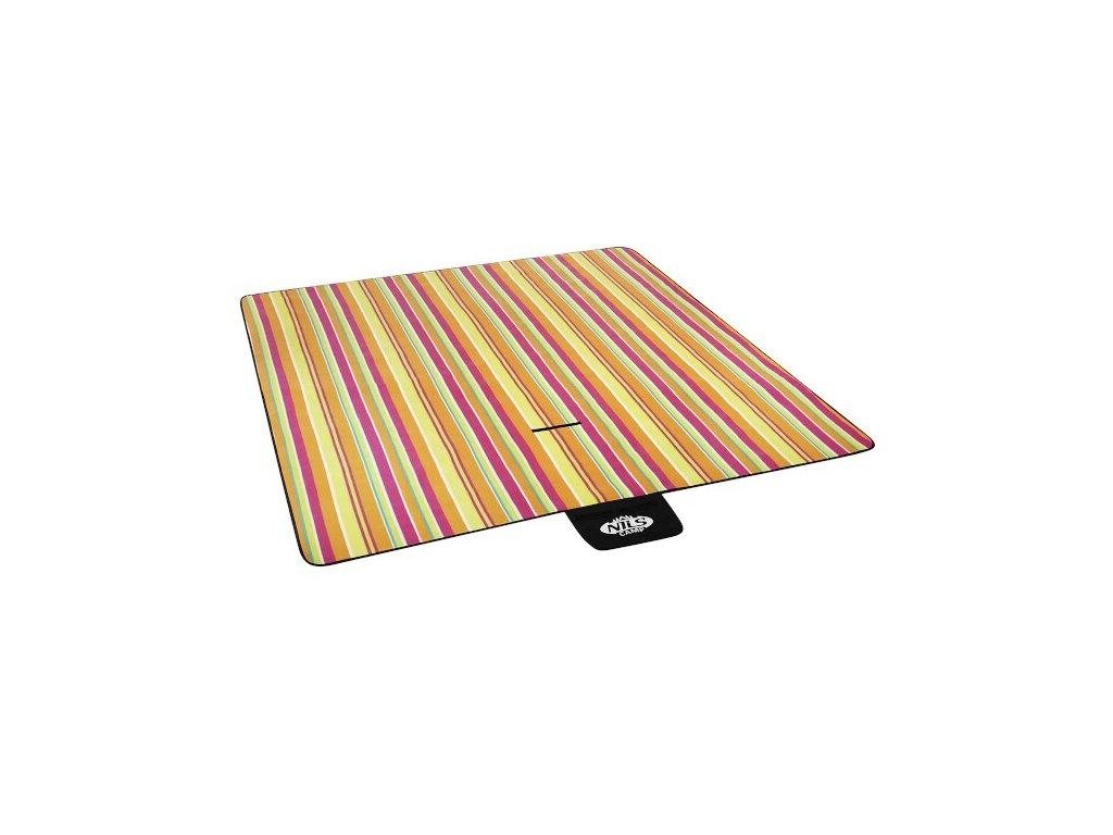 Pikniková deka NILS CAMP NC2220 fialovo-žlutá