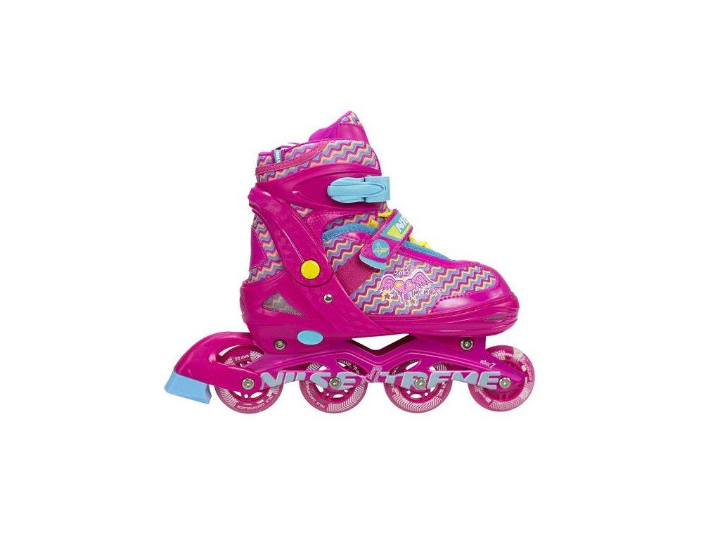 Detské kolieskové korčule NILS EXTREME NJ 4613 A pink