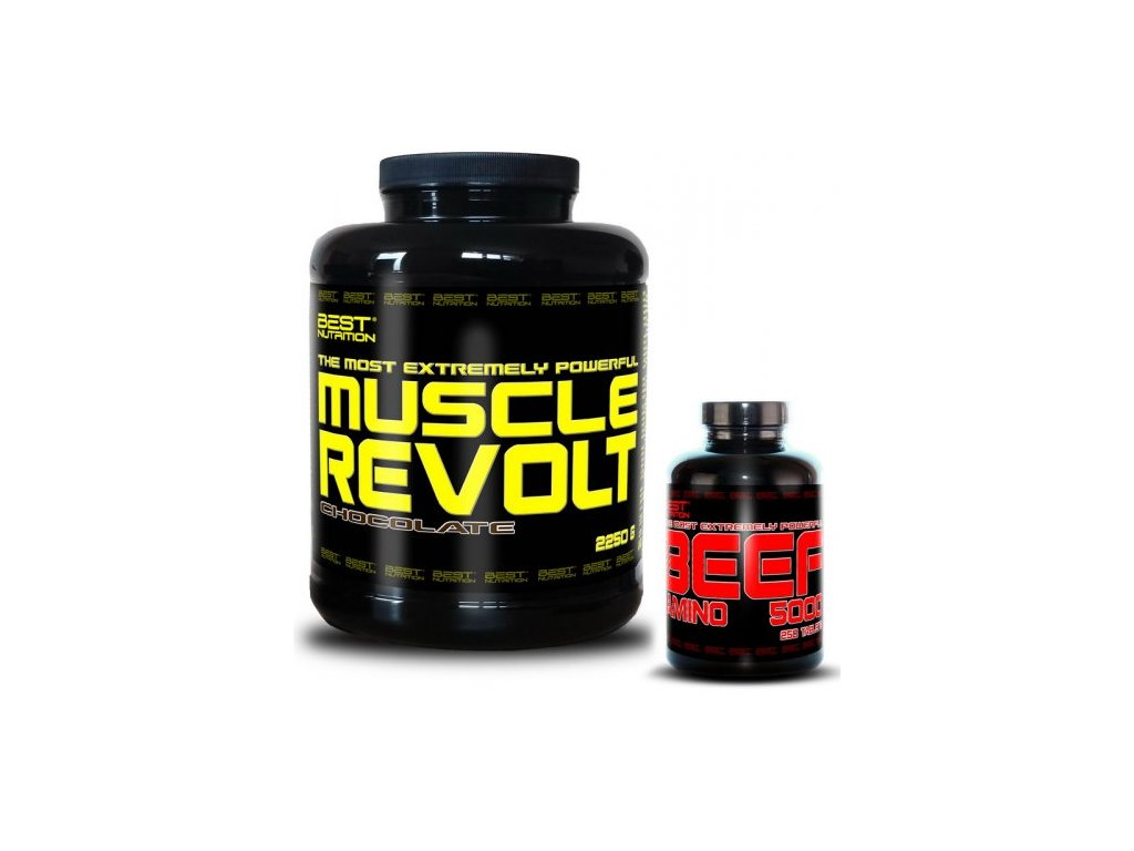 Muscle Revolt + BEEF Amino Zadarmo - Best Nutrition