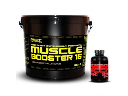 Muscle Booster + BEEF Amino Zadarmo - Best Nutrition