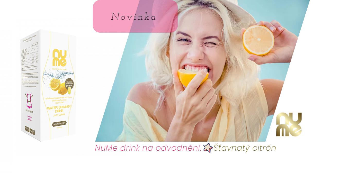 NuMe drink na odvodnění šťavnatý citrón