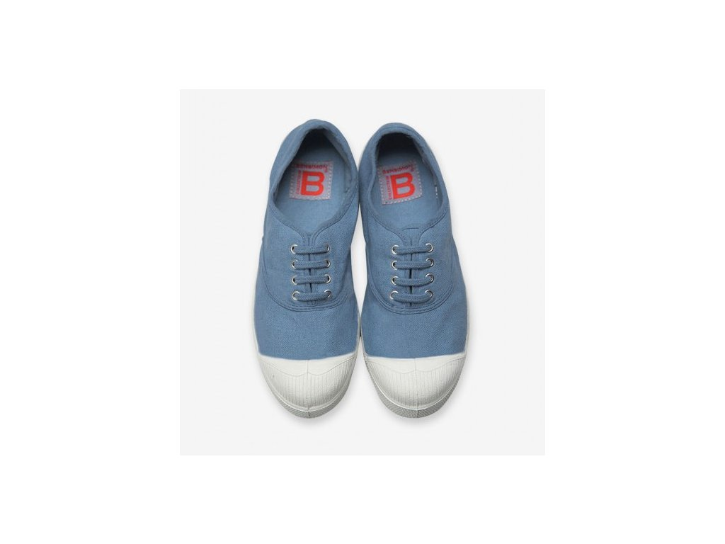 Boty obuv BENSIMON unisex Tenisky Tennis Lacets denim blue džínová modrá