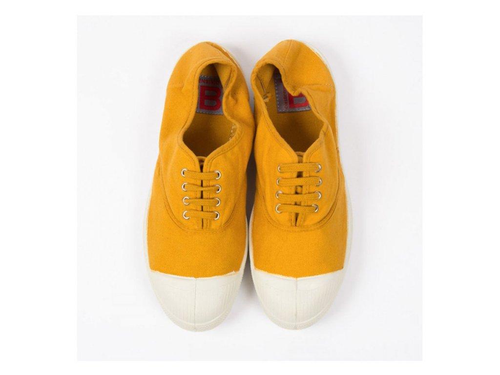 Boty obuv BENSIMON unisex Tenisky Tennis Lacets žlutá