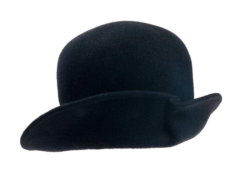 klobouk dámský TONAK vlna přehnutý černá